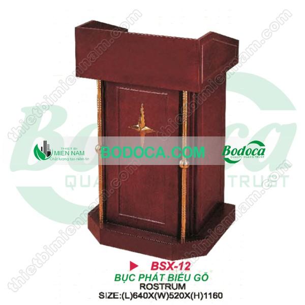 Bục tượng Bác gỗ tự nhiên BSX-12
