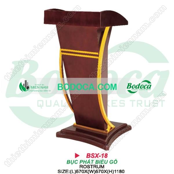 Bục phát biểu gỗ giá rẻ BSX-17