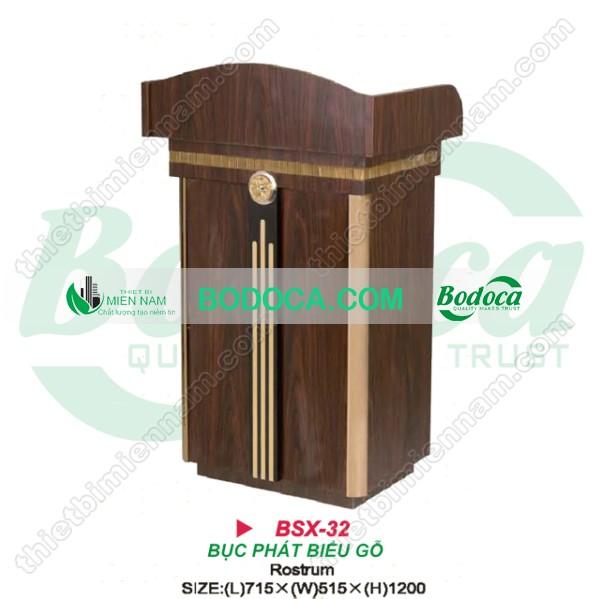 Bục phát biểu gỗ giá rẻ BSX-32