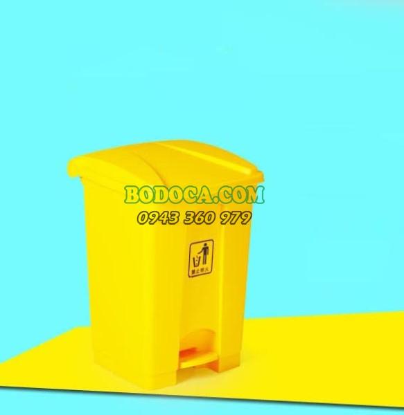 Thùng rác công cộng 45l màu vàng giá rẻ AF07331V