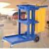 Xe đẩy nhựa 3 tầng làm vệ sinh nhập khẩu AF08160